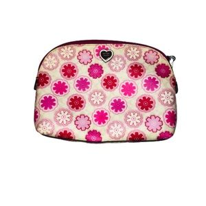 Coach Pink and White Cosmetic Bag